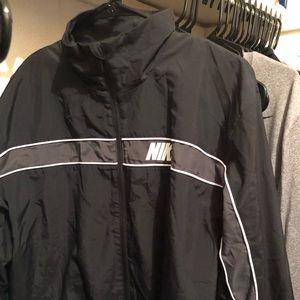 Black Nike wind breaker jacket